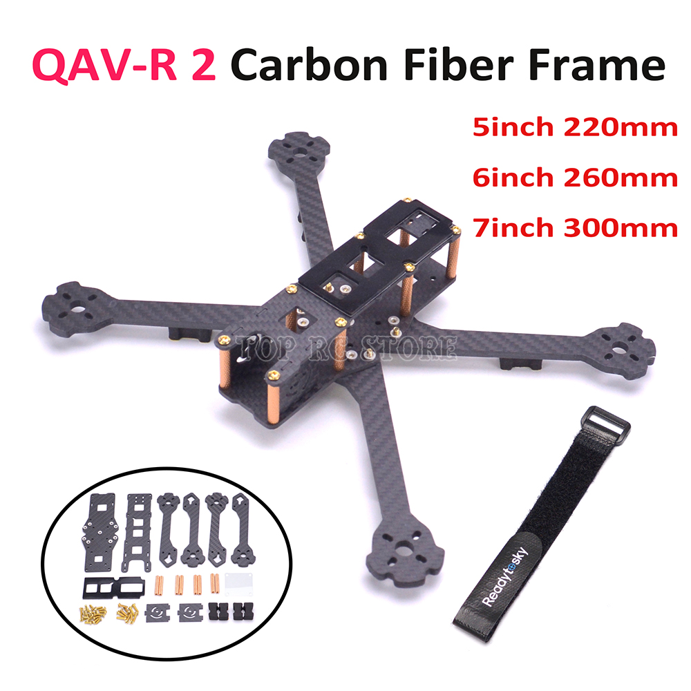 Newest QAV R 2 5inch 220 220mm / 6inch 260mm / 7inch 300mm FPV Racing Drone quadcopter frame carbon fiber better Martian II 220