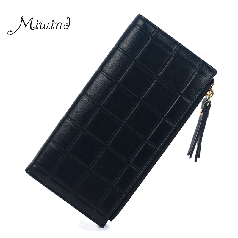 Women Wallets Leather Double Zip Long Purse Designer Brand Phone Coin Holder Card Clamp For Money Dollar Price Girl 2017 Clutch