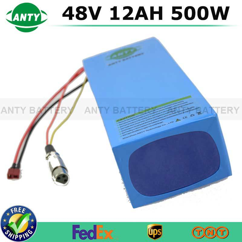48V 12Ah 500W ebike Rechargeable Lithium Battery With 54.6V 2A Charger 15A BMS Safe Electric Bicycle Scooter Battery Pack Set free customs taxes super power 1000w 48v li ion battery pack with 30a bms 48v 15ah lithium battery pack for panasonic cell