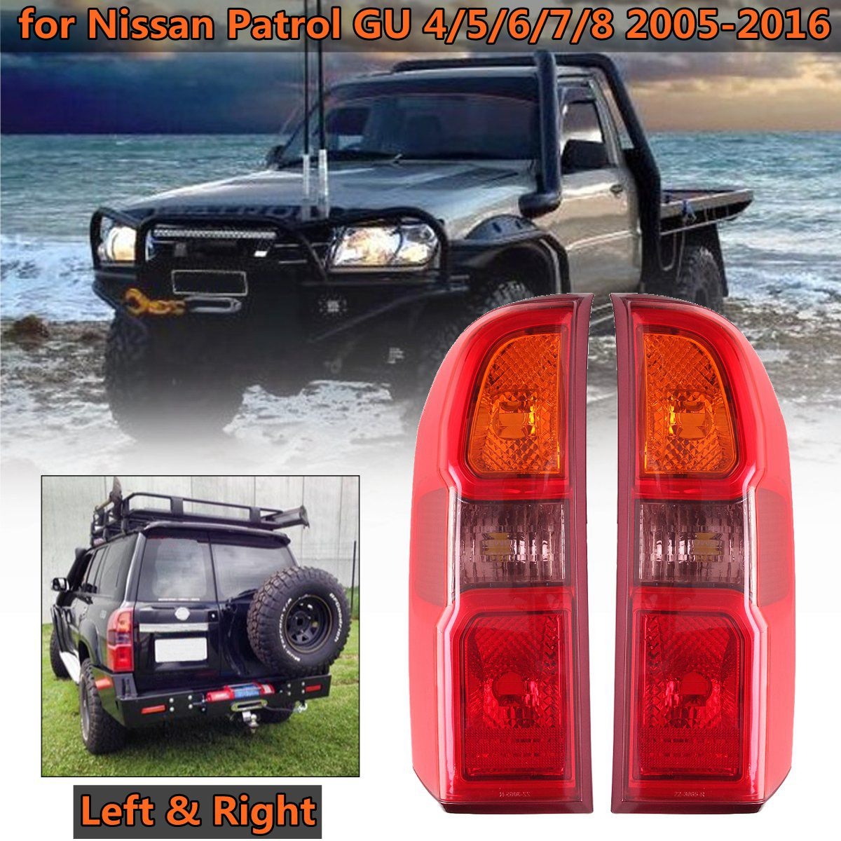 For Nissan Patrol GU 4/5/6/7/8 2005 2006 2007 2008 2009 2010 2011 2012~2016 Brake Lamp Rear Driver Passenger Side Tail Light 1 pc outer rear tail light lamp taillamp taillight rh right side gr1a 51 170 for mazda 6 2005 2010 gg page 5