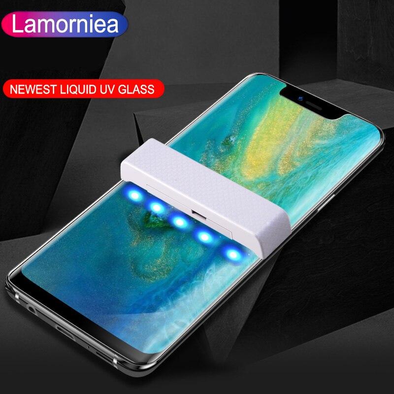 Protection d'écran en verre UV liquide pour Huawei P30 P20 Pro Film de verre trempé pour Huawei Mate 20 Pro Mate 20 Lite RS