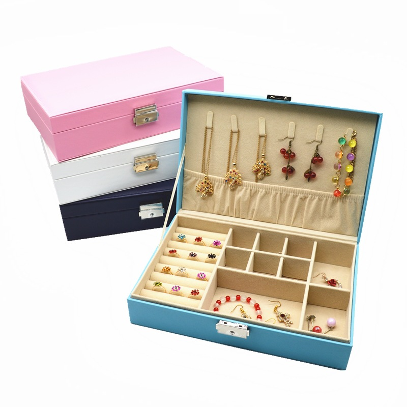 2017 Creative Jewelry storage Box Makeup Case Cosmetics Beauty Casket organizer Birthday Gift Ring Earrings Necklace Container jewelry box european style makeup case cosmetics beauty organizer wedding birthday gift earrings necklace jewelry storage box