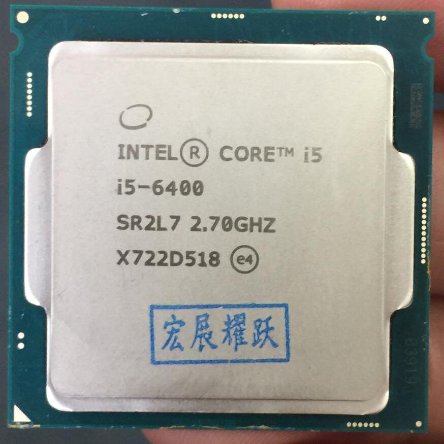 Intel Core 6 series Processor I5 6400 I5-6400 CPU LGA 1151-land FC-LGA 14 nanometers Quad-Core cpu цена 2017