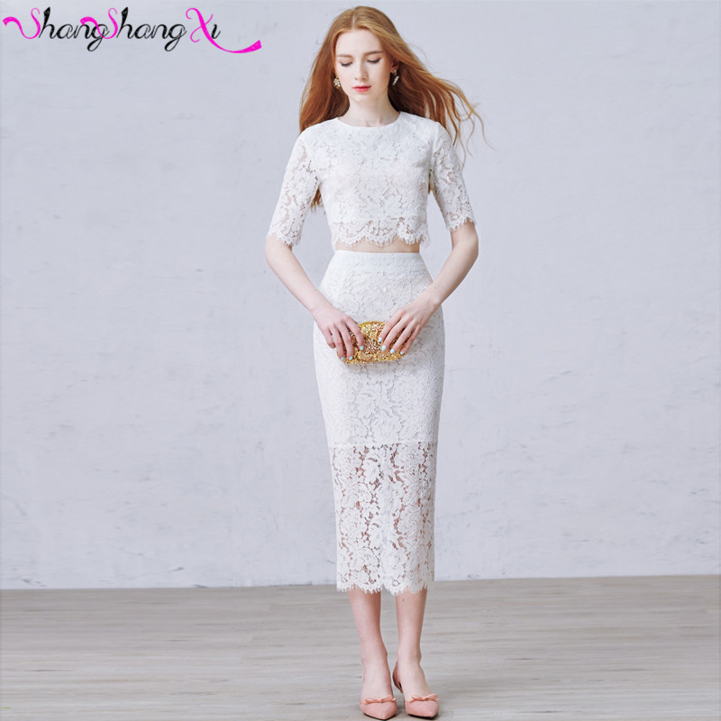 2016 Short Lace font b Cocktail b font font b Dresses b font Half Sleeves Prom