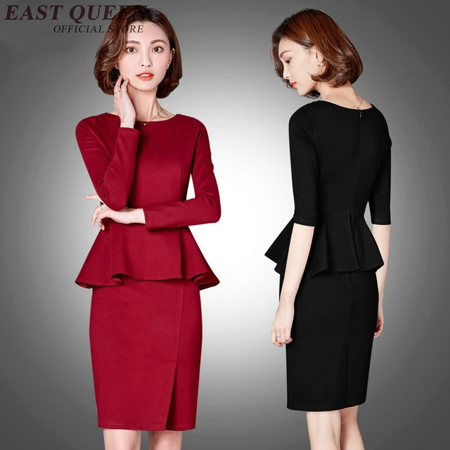 Women suits with skirts one piece office uniform designs for Office uniform design catalogue