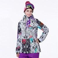 Куртка для сноуборда женская зимняя Лыжная куртка водонепроницаемая Светоотражающая Толстовка для сноубординга Женская куртка для снегох