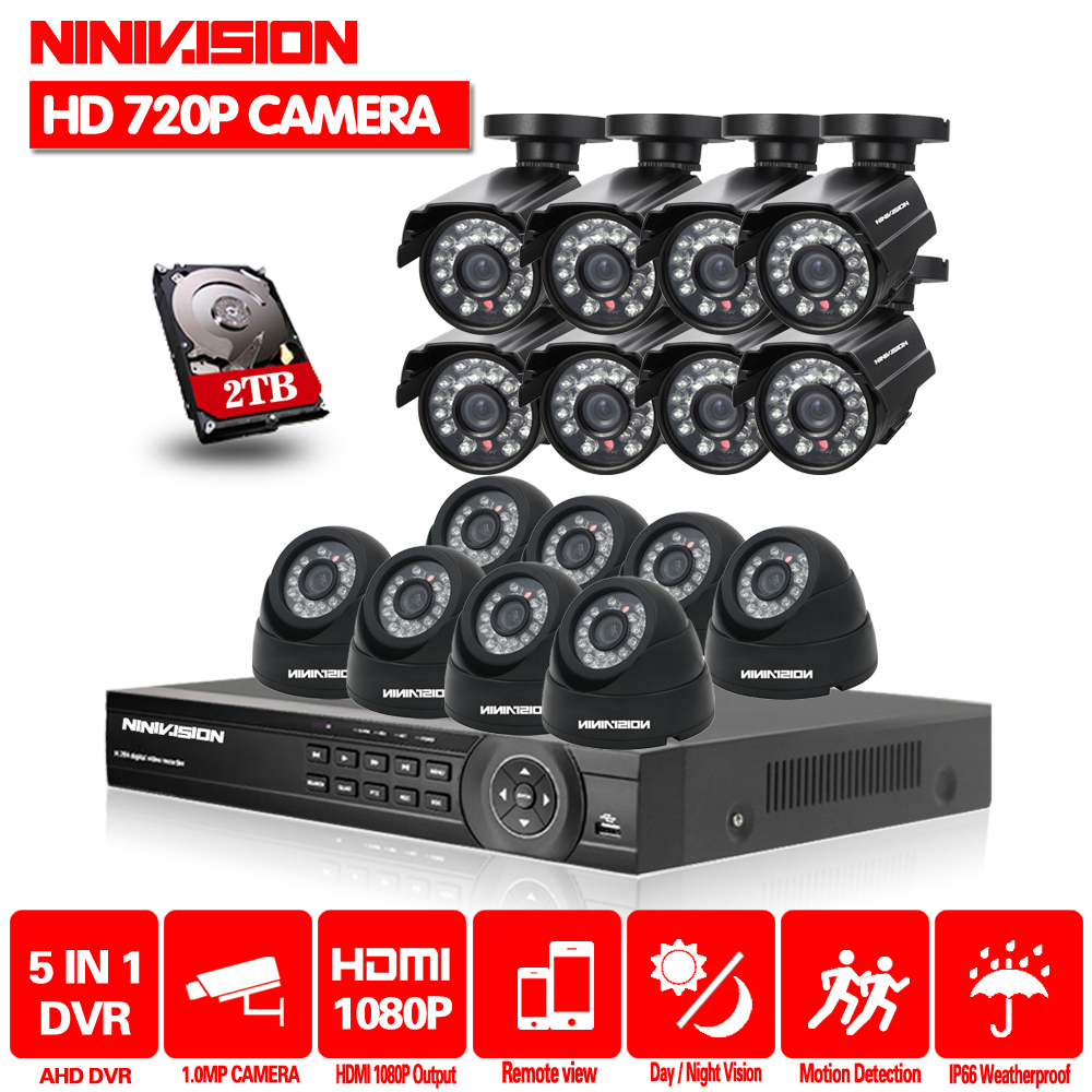2TB HDD 1.0MP HD 2000TVL security bullet camera CCTV System Kit 16channel AHD Full 720P Video Surveillance 1080P DVR NVR system2TB HDD 1.0MP HD 2000TVL security bullet camera CCTV System Kit 16channel AHD Full 720P Video Surveillance 1080P DVR NVR system