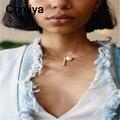 Comiya европейский простой украшения золотой посеребренные ожерелья акриловые имитация перл подвески колье колье femme