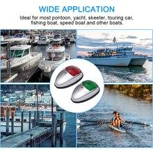 2 шт. 12-24 В гоночные лодки Универсальный светодиодный навигационный сигнал Лампа высокой яркости безопасности освещение рыболовная лодка яхты грузовик прицеп