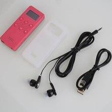 Portable 8G Delgado Reproductor de Música MP3 Radio FM Grabador de Voz de Audio TF envío con Auricular Rose red (1430 mAh de la batería de litio)
