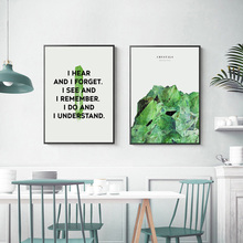 Green Plants Poster Nordic Wall Art Prints Palm Canvas Picture Leaf Plant Pictures For Living Room Unframed