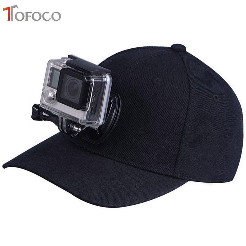 TOFOCO pro Go Pro příslušenství Plátno Baseball čepice čepice W / J-Hook spona montážní šroub pro GoPro HERO5 HERO4 Session HERO 5 4 3+ 3 2