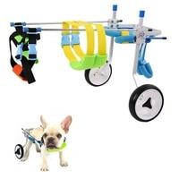 2 Wheel Aluminium Walk Cart Scooter Pet Dog Wheelchair For Handicapped Hind Leg Adjustable Durable XXS XS for 3 15kg Pet