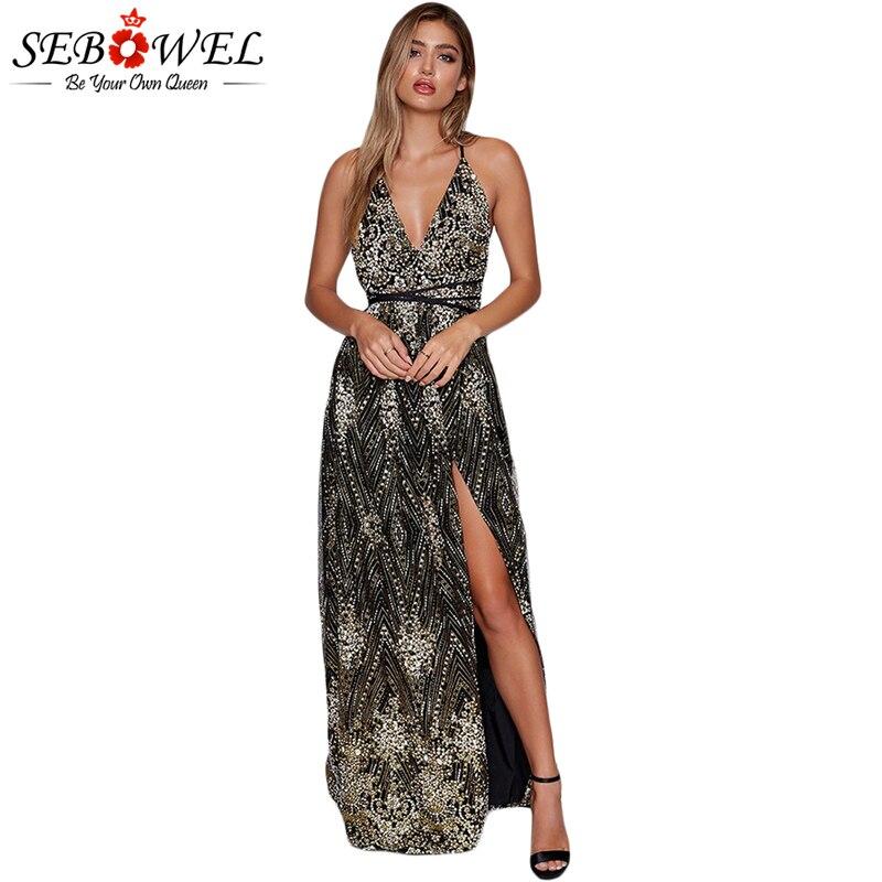 Black-Daring-Open-Back-Glittering-Party-Dress-LC610534-2-1