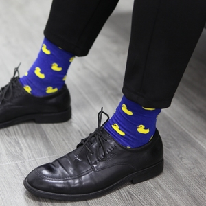 Image 5 - Match Up Men Cartoon Cotton  Socks  Art Patterned Casual Crew Socks 5 Pack Shoe Size 6 12