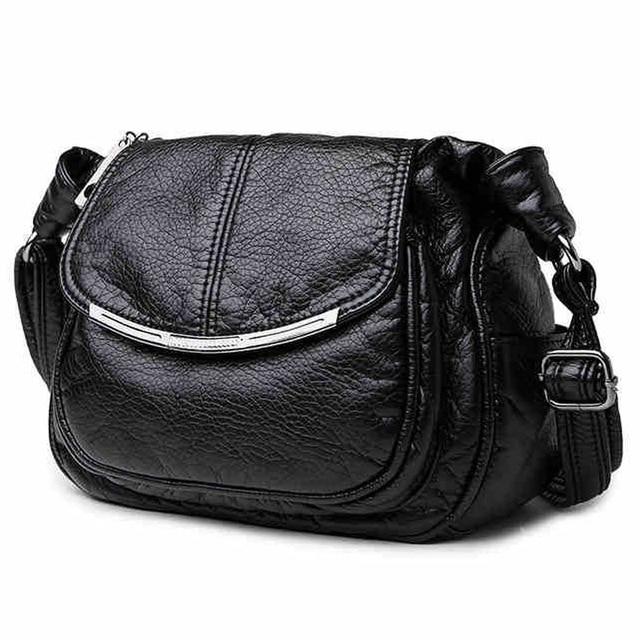 Chegam novas 2017 Mulheres Bolsas de Ombro Feminino Crossbody Saco Preto de Alta Qualidade Saco De Couro Genuíno Das Senhoras Bolsas De Luxo LY105