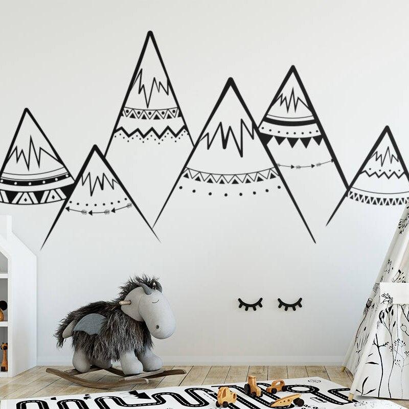 Tribal Berge Wandtattoo Sacndinavian Nursery Vinyl Wandaufkleber