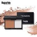 Magical halo duplo cores kit paleta de maquiagem corretivo creme contorno bronzer highlighter pó aparar paleta de contorno