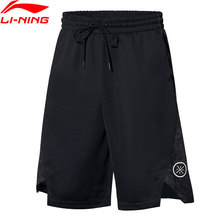 Li-Ning мужские баскетбольные шорты из полиэстера с дышащей подкладкой, спортивные шорты AAPP265 MKD1653