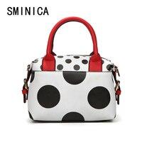 Dot Women Messenger Bags Bolsa Feminina Handbags Famous Brands Crossbody High Quality Leather Woman Clutch Hand