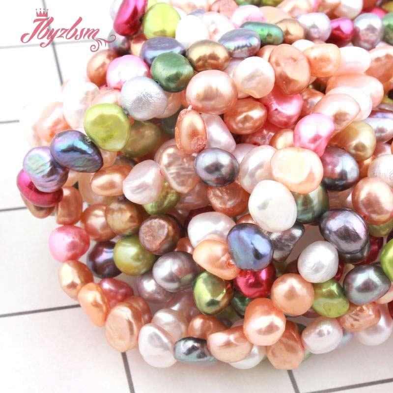 117371c6b6ab Perla Natural de agua dulce libre barroco cuentas de piedra para joyería  DIY pulseras collar suelto 5-6mm 14