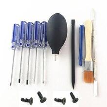 Conjunto de ferramentas de reparo de ps4, kit de ferramentas de desmontagem de precisão para ps4 slim pro v1 v2 ps 4 4 parafusos