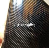 Super Gloss 6D Carbon Fiber Black Vinyl wrap for car wrap Covering size 1.52x20m/roll with Air Bubble Free PROTWRAPS