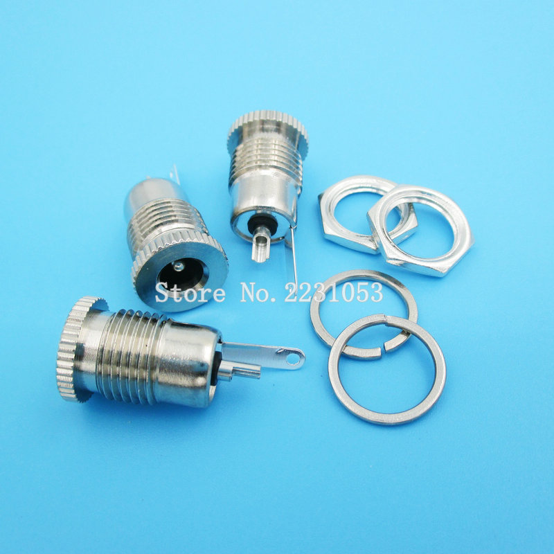 5PCS/LOT DC099 <font><b>DC</b></font>-<font><b>099</b></font> 5.5 mm x 2.5mm <font><b>DC</b></font> Power Jack Socket Female Panel Mount Connector 5.5*2.1 mm image