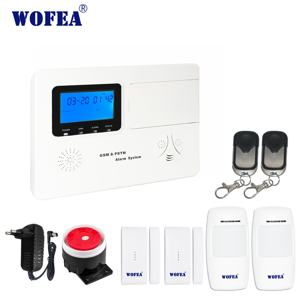wofea ISO & android APP LCD display GSM alarm & pstn alarm system with 99 wireless zone and 4 wired zonewofea ISO & android APP LCD display GSM alarm & pstn alarm system with 99 wireless zone and 4 wired zone