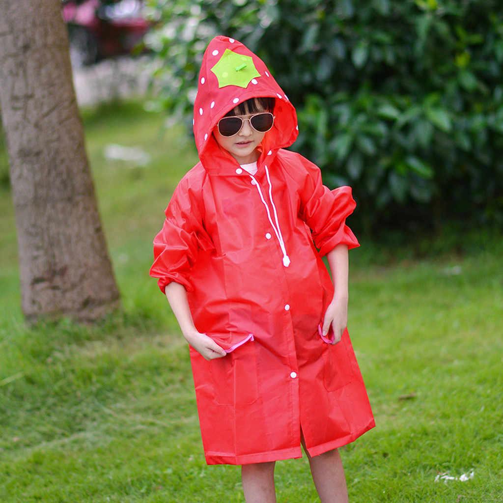 ילדי בגדי גשם פעוט גשם מעיל בנות בני Cartoon מעיל גשם עמיד למים סלעית ארוך בגדי גשם