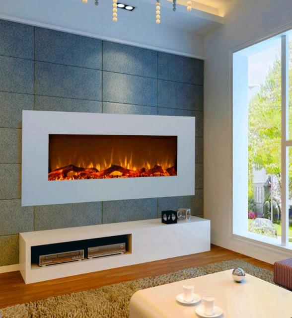 Cheap electric fireplace wall