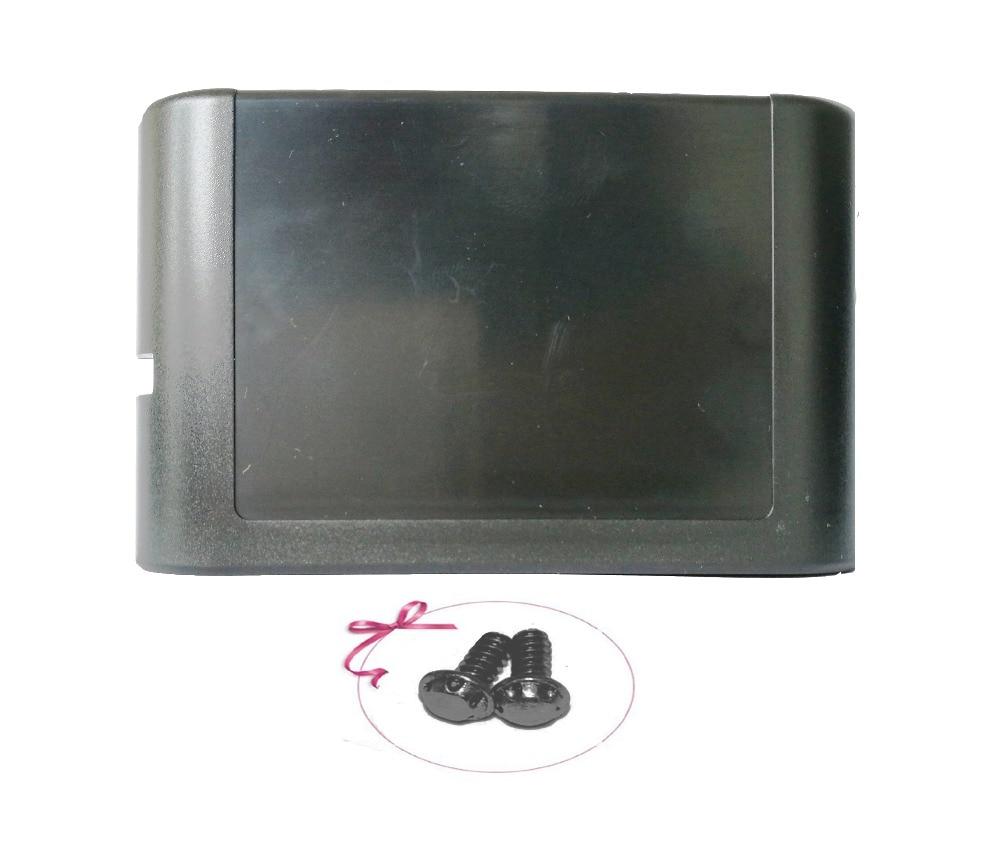 H 100pcs Black Housing Case Cartridge Card Shell Cover For Sega Genesis Mega Drive with 2pcs