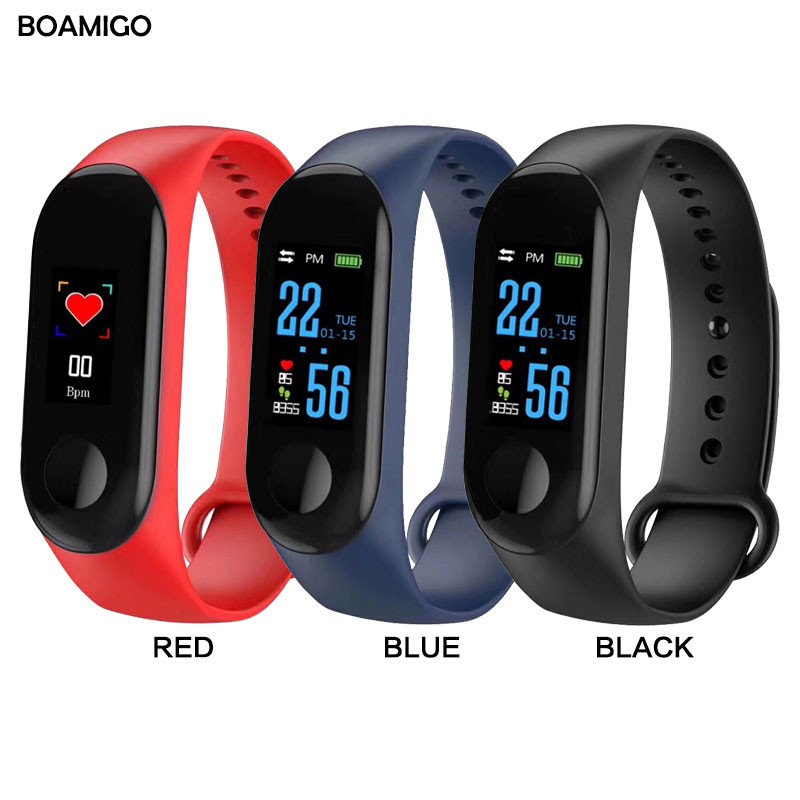 Watches Boamigo Smart Watch Men Women Heart Rate Monitor Blood Pressure Fitness Tracker Smartband Sport Bracelet For Ios Android Phone