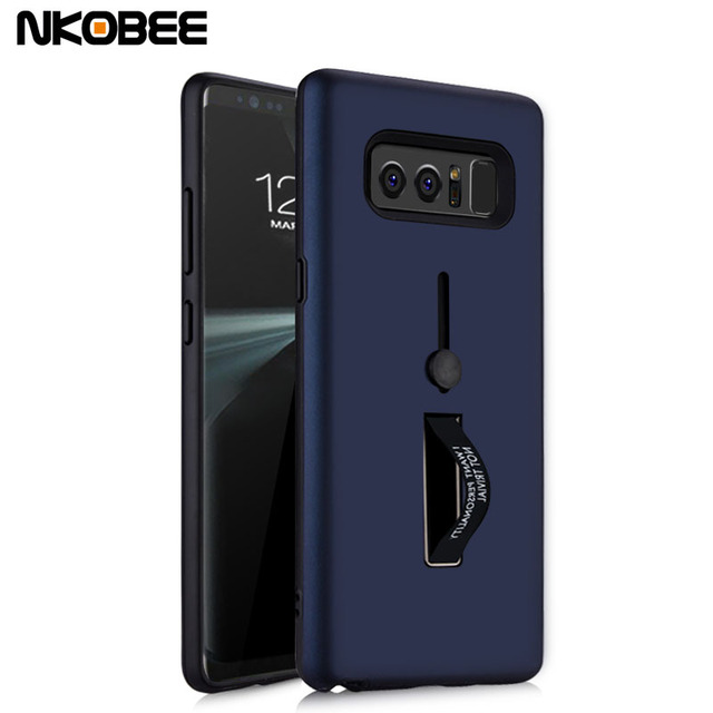 wholesale dealer 06bd0 fdae0 US $4.99 |NKOBEE For Samsung Galaxy Note 8 Case Cover For Galaxy Note 8  With Finger Ring Holder Hard Back Cover For Samsung Galaxy Note 8-in Fitted  ...
