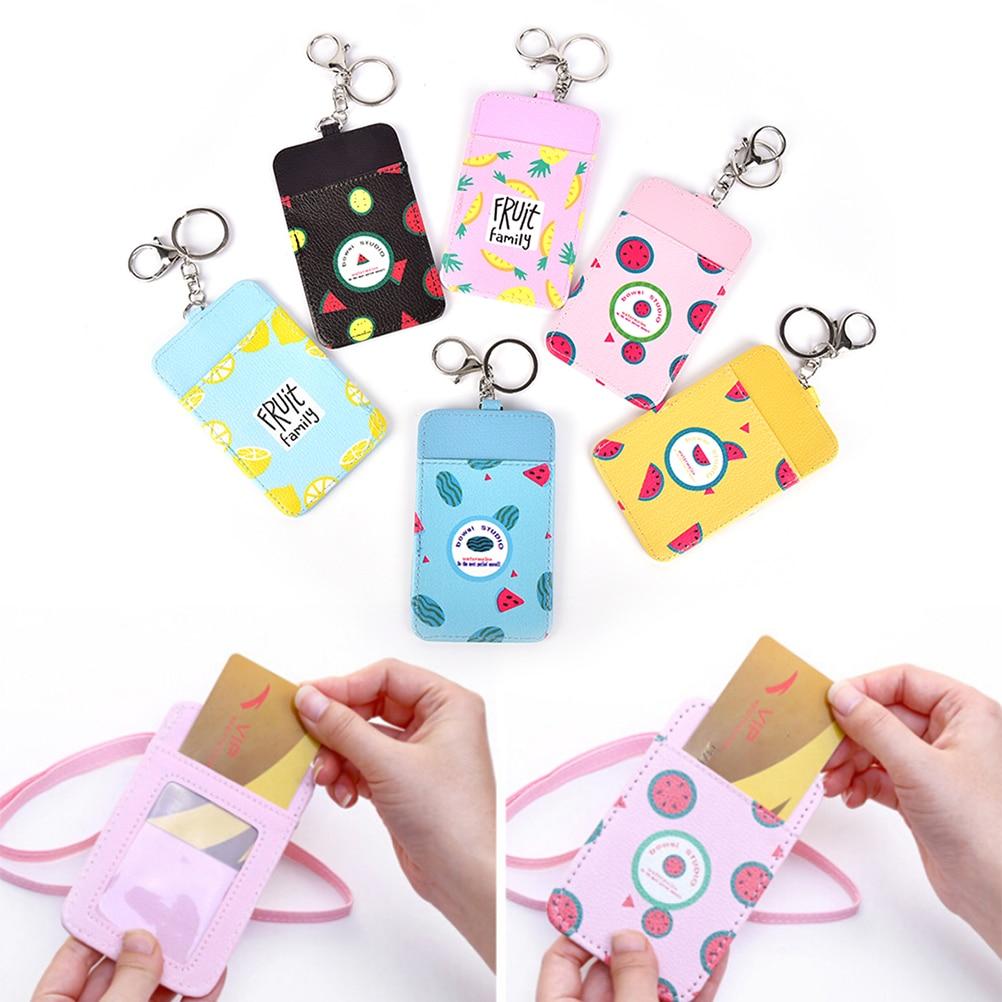 Luggage & Bags Novelty Summer Fruits 11*7cm Neck Hanging Key Hook Bus Id Card Holder Case Pouch Bag Holder