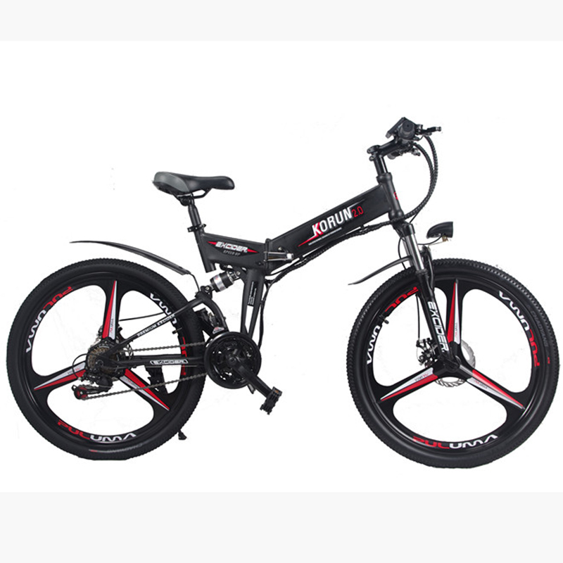 Electric bicycle 48V Hide lithium battery 26 electric mountain font b bike b font smart assist