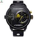 Reloj Hombre 2016 Men Watch Sport Wristwatch Waterproof XFCS Relogio Masculino Genuine Leather Quartz Watch Men Sport WristWatch