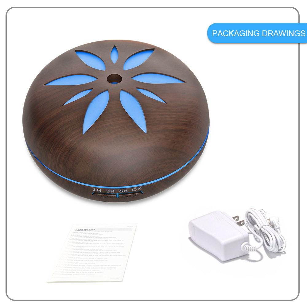 Wood Grain Essential Oil Humidifier Aroma Diffuser with 7 Colors Changing Mood Light Ultrasonic Mist Maker Aromatherapy Diffuser in Humidifiers from Home Appliances