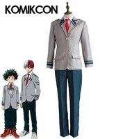 My Hero Academia Midoriya Izuku Cosplay Todoroki Shoto Costume Anime School Uniform Tie Suits Halloween Carnival Party Full Sets