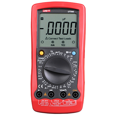 UNI-T UT58E Digital Multimeters Ammeter DMM  DC/AC Voltage Current Resistance Capacitance Tester with Data hold uni t ut30c original authentic data handed hold digital multimeters temperature test