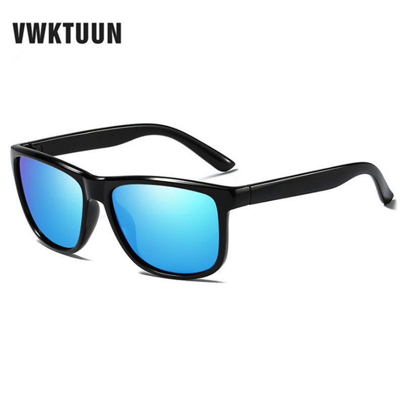 VWKTUUN Cool Men Polarized Sunglasses Classic Mirror Sun Glasses Male Square Shades Night Vision Googles Oculos Gafas De Sol