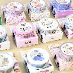 15mm * 7m Cute Kawaii Flowers Cartoon Masking Washi Tape Decorative Adhesive Tape Decor Decora Diy Scrapbooking Sticker Label