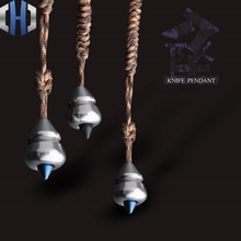 Metal EDC Sharp Knife Beads Pendant Paratrooper Rope Art Double Crafts Gourd Sinkers With Toys цена