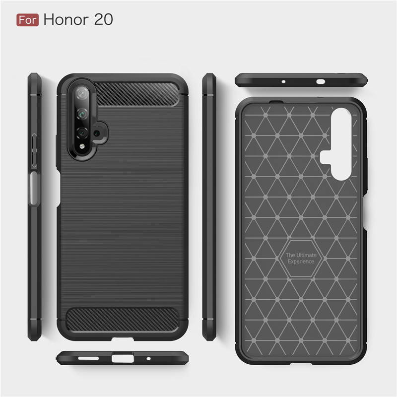 Image 5 - For Huawei Honor 20 Case Armor Protective Soft TPU Silicone Phone Case For Huawei Honor 20 Back Cover For Honor 20-in Fitted Cases from Cellphones & Telecommunications