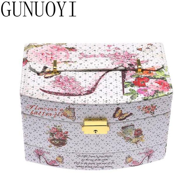 (Ship from RU ) Multi-functional Scenery Travel Cosmetic Case Bag Makeup Case Travel Jewelry Case Birthday Gift for Girl B-016