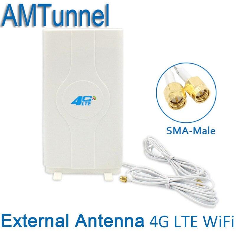 4G Antenne 3G 4G LTE Externe Panneau Antenne 4G routeur antenne avec SMA mâle et 2 mètre câble pour 3G 4G Huawei routeur modem