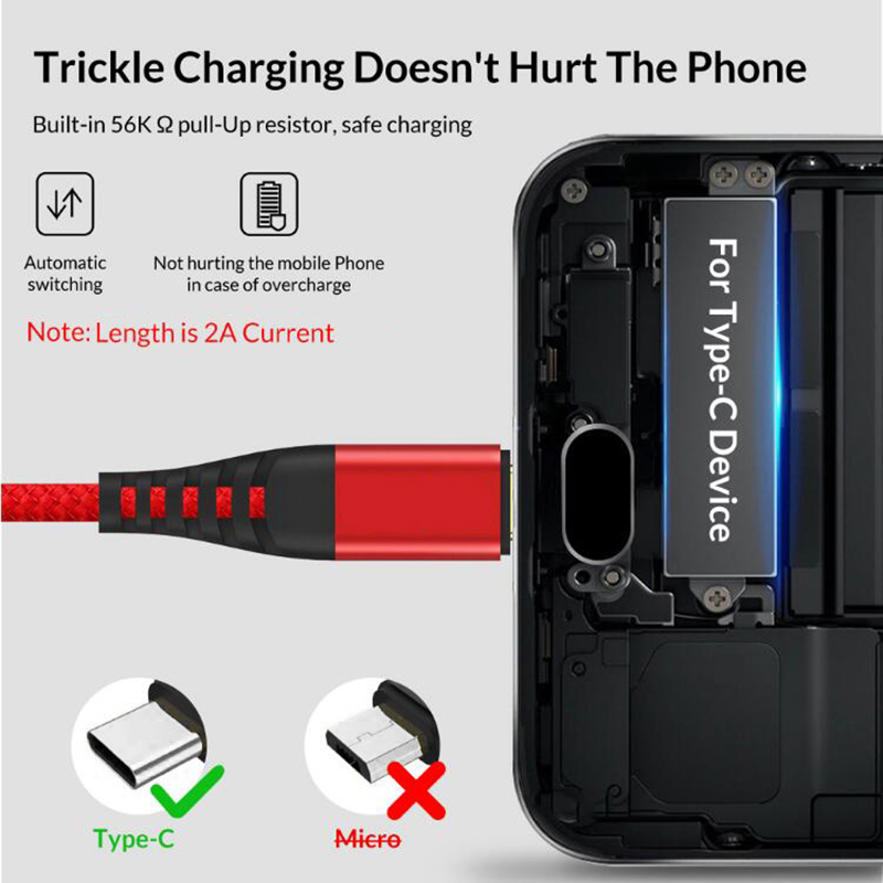 2 4A USB Type C Cable For Huawei Mate 20 Pro Fast Charging Data Cord USB C Type c Cable For xiaomi Samung S9 One plus in Mobile Phone Chargers from Cellphones Telecommunications