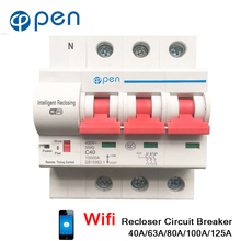 цена на Recloser Wifi Circuit Breaker 3P 16A 32A 40A 125A Remote Control Timing Switch Delay Set Function Automatic Lock Intelligent