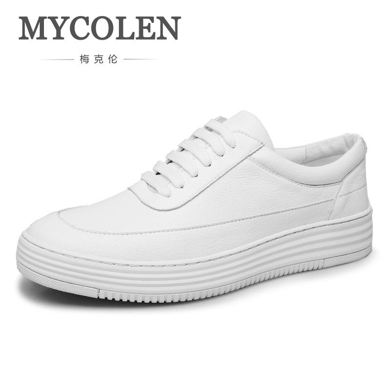 MYCOLEN New Brand Arrival Spring Summer Comfortable Casual Shoes For Men Lace-Up Fashion Sneakers Shoes Zapatillas Hombre klywoo new white fasion shoes men casual shoes spring men driving shoes leather breathable comfortable lace up zapatos hombre