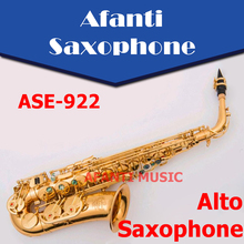 Afanti Music Eb tone / Brass body / Gold finish Alto Saxophone (ASE-922)